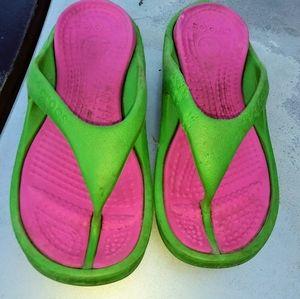 Girls croc sandals